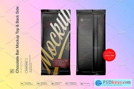 Chocolate Bar Mockup Top & Back Side View