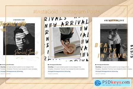 InstaGold - CANVA Instagram Posts
