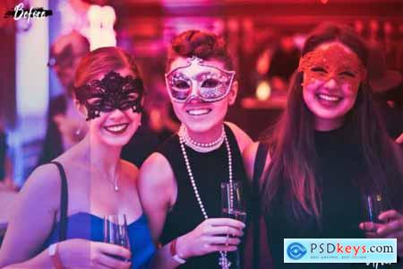 Neo Night Party Theme Color Grading photoshop actions, ACR LUT preset