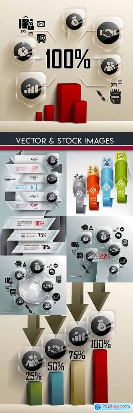 Business infographics options elements collection 65