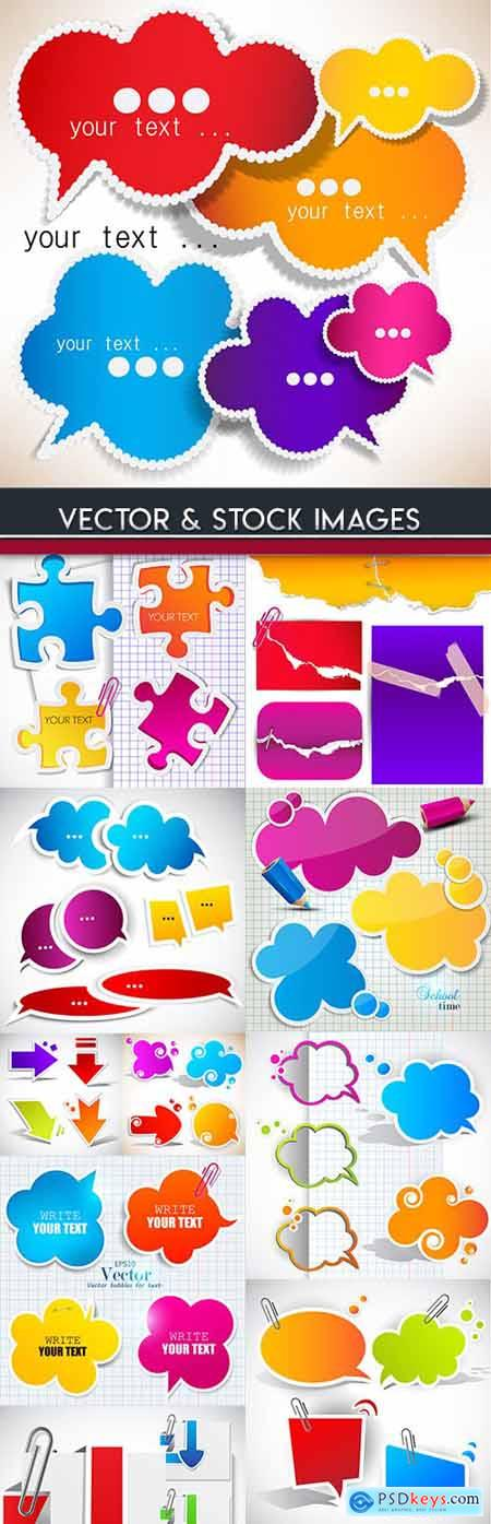 Bubble cloud and sticker origami abstract paper design