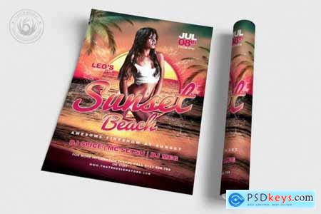 Beach Party Flyer Template V3