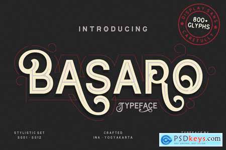 Basaro - Display Typeface