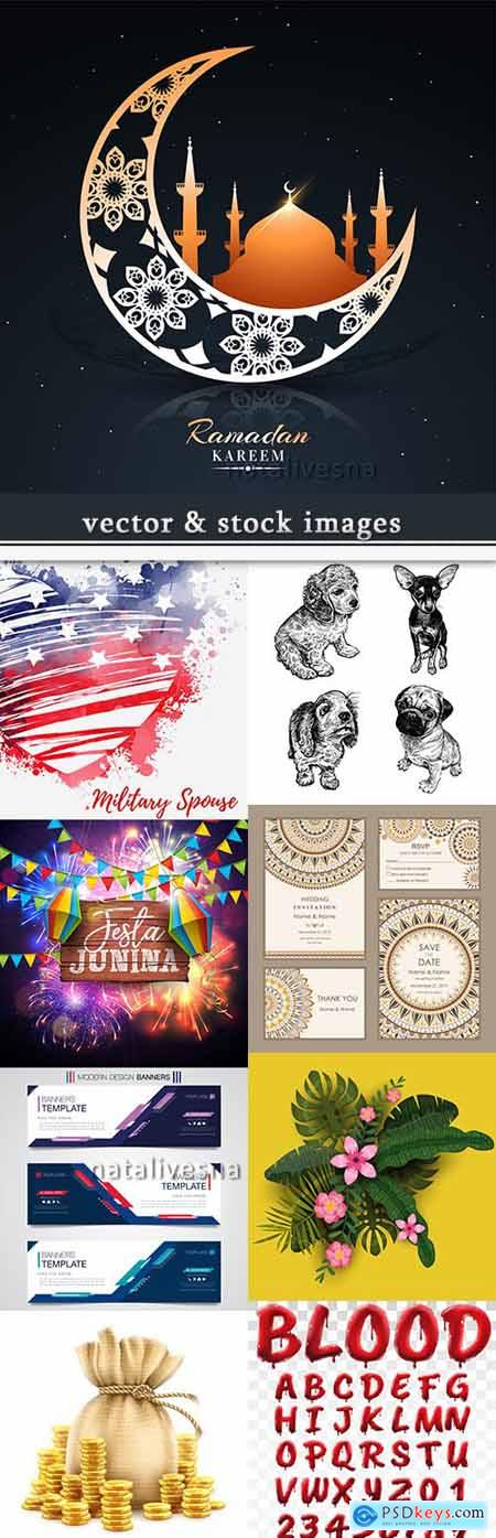 Vector illustrations on different subjects collection 38