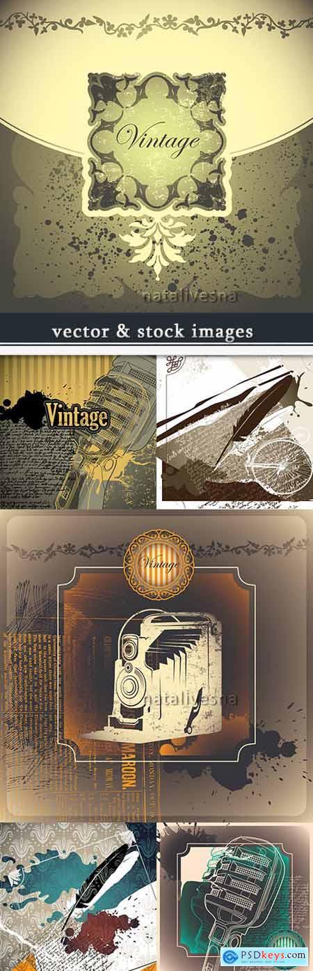 Vintage nostalgia decorative design abstract background