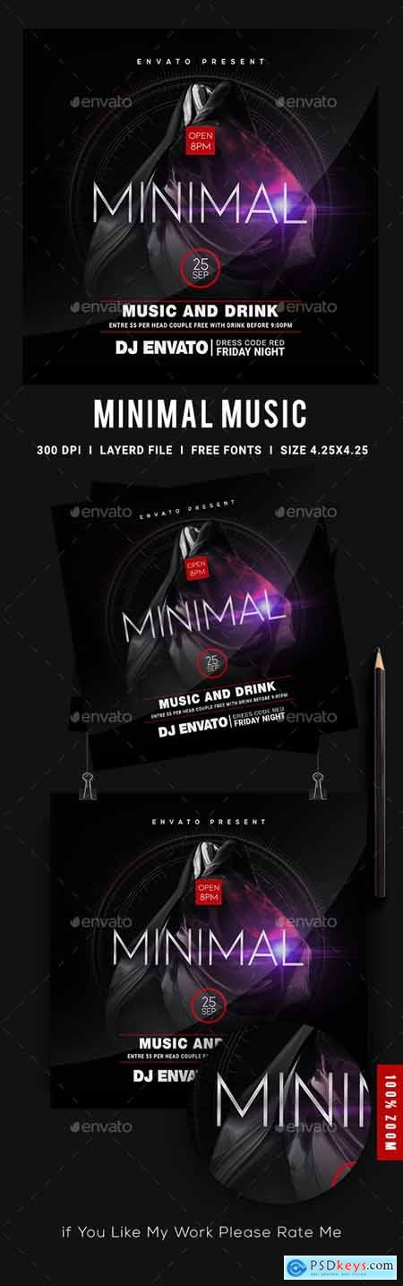 Minimal Music Night Flyer Template 23897725