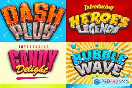Game Logo Text Effect Styles Bundle 3741328