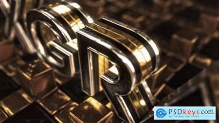 Videohive Gold Cross Logo