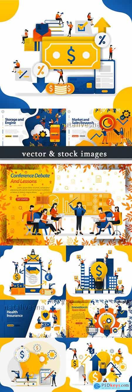 Business people and finance creative ideas concept