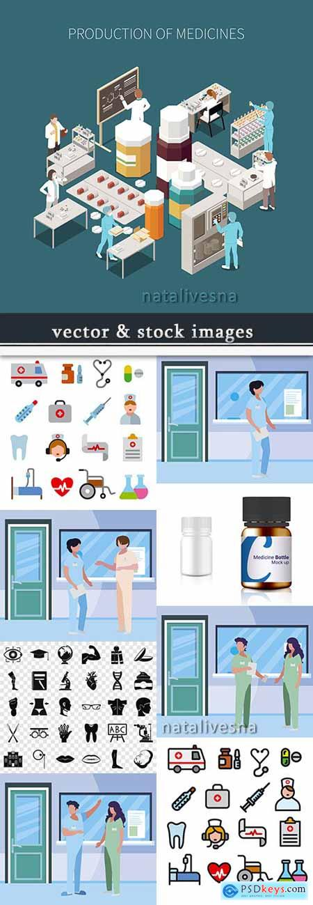 Medicine professional doctor and equipment diagnostics 10