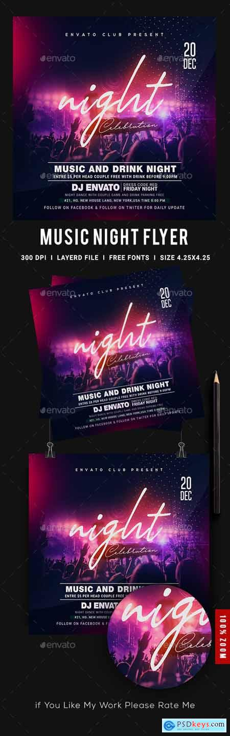 Music Night Party Flyer 23897774