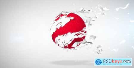 Videohive Tearing Sphere Logo Reveal