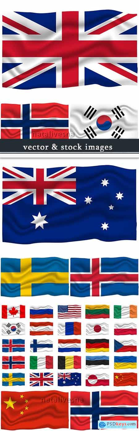 National flag country and republic vector collection