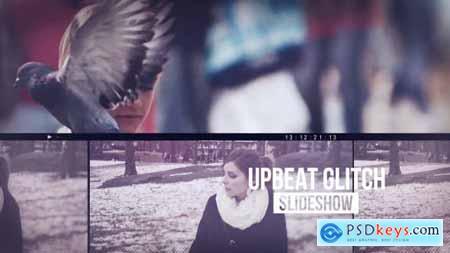Videohive Upbeat Glitch Slideshow