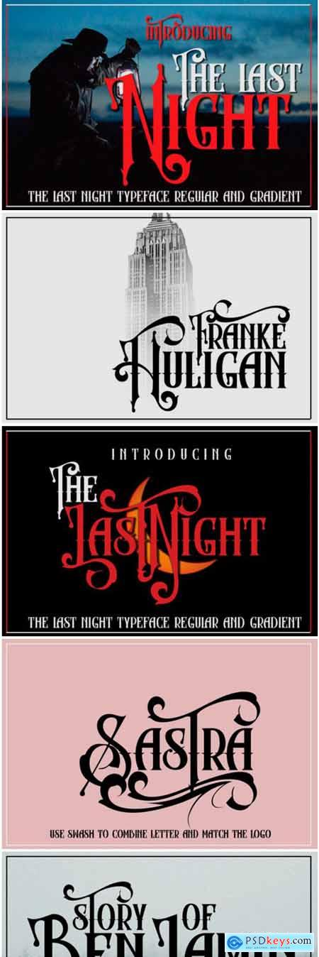 The Last Night Font