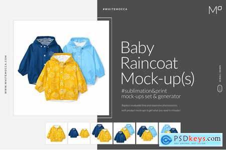 Baby Raincoat Mock-ups Set&Generator 3803014