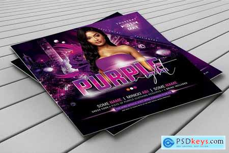 Purple Night Flyer 3803324