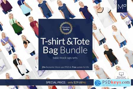 T-SHIRT & BAG BUNDLE 20xMock-upsDEMO 3799268