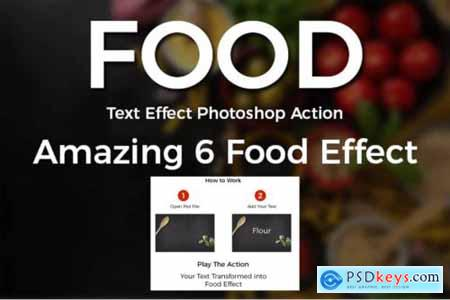 Food Text Effect Photoshop Action