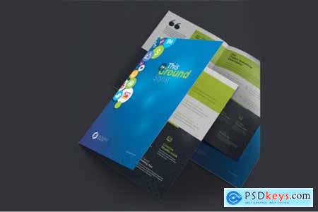 Corporate Business Bifold Brochure 3585733