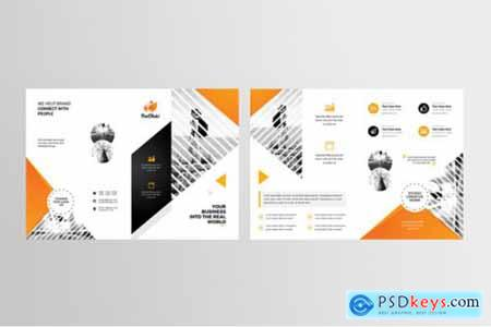 Corporate Business Bifold Brochure 3585732