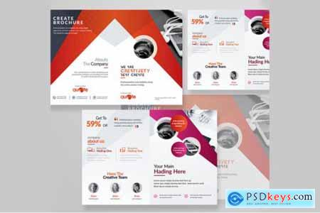 Corporate Business Bifold Brochure 3585734