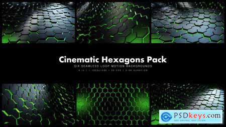 Videohive Cinematic Hexagons Green Pack