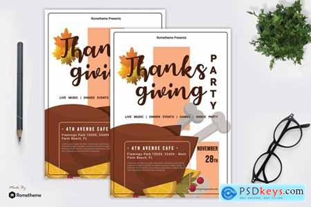 Thanksgiving Party Flyer vol. 01