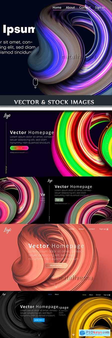 Internet home page colourful design of template