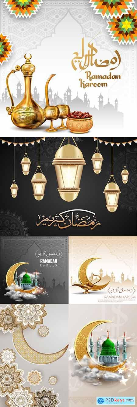 Ramadan Kareem Islamic culture collection illustrations 12