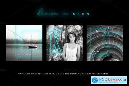 Dream in Neon - Aqua - Social Media 3796540