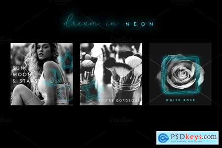 Dream in Neon - Aqua - Social Media 3796540