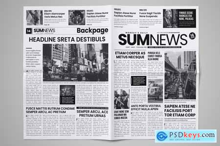 16 Page Newspaper Design v4 3859348