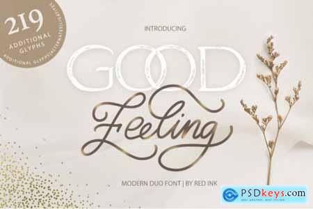 Good Feeling. Modern DUO Font