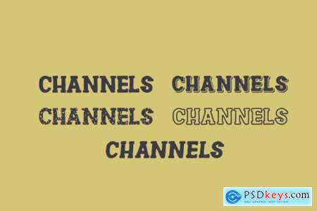Channels Family Font