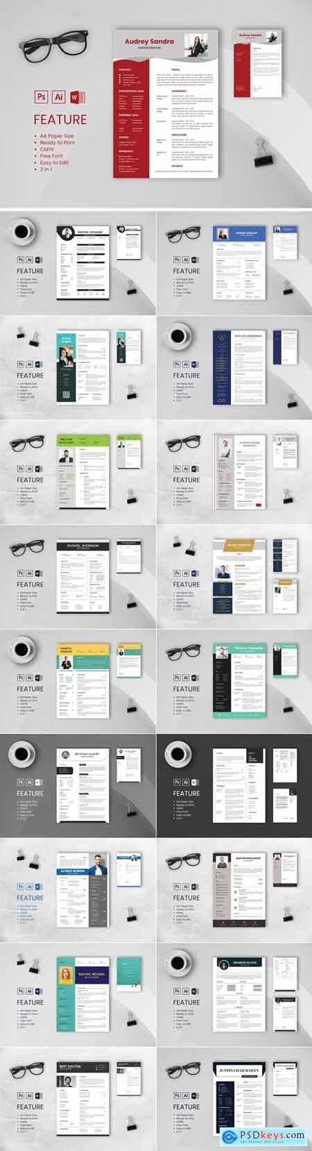 Professional CV And Resume Template Bundle 5