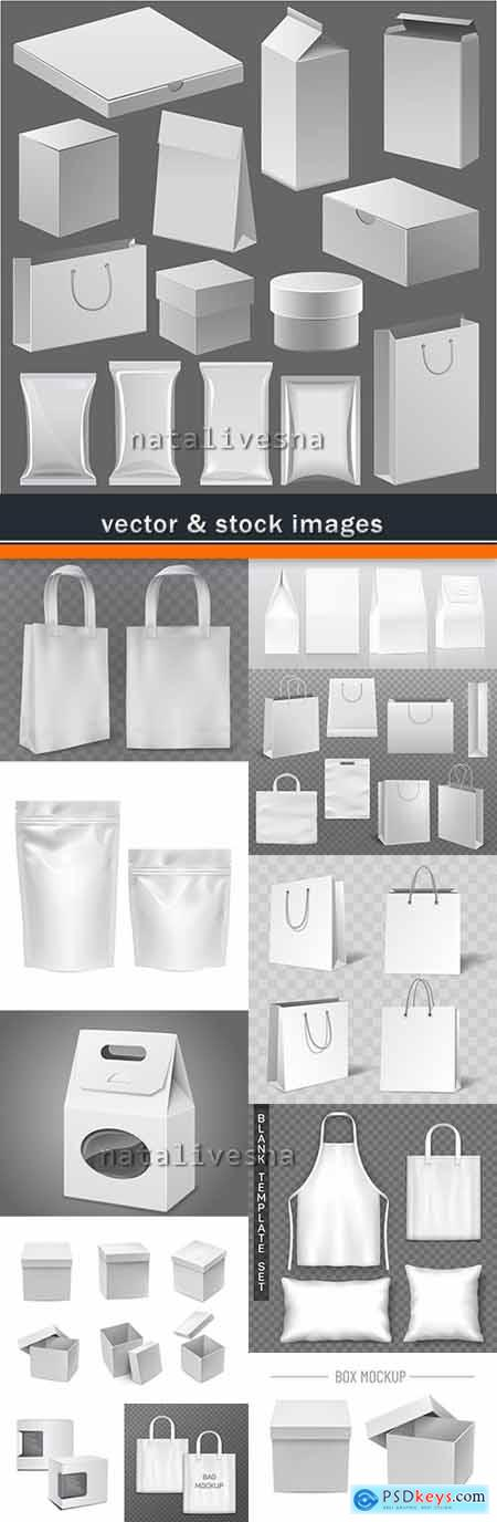 Packing box and gift package 3d model template