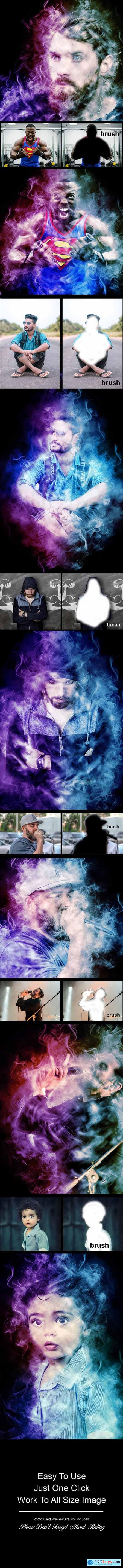 Amazing Colored Smoke Photoshop Action Vol 3 23881038