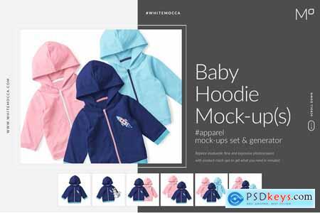 Baby Hoodie Mock-ups Set & Generator 3444829