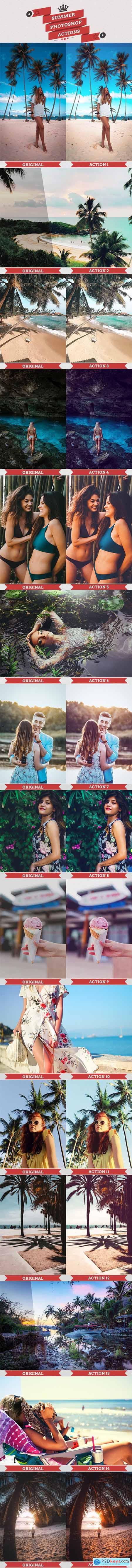 Summer Photoshop Actions 23947136