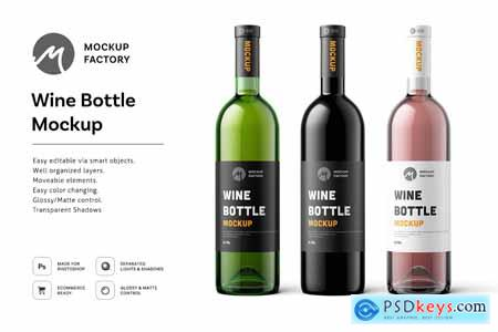 Wine Bottle Mockup 3527259