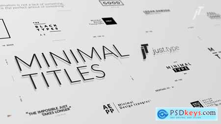 Videohive Just Type Minimal Titles