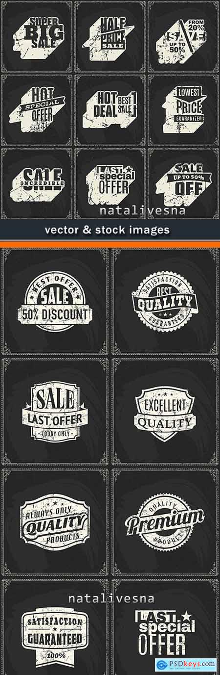 Vintage design discount and sale black background