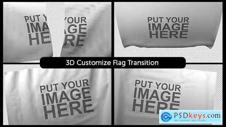 VideoHive 3D Customizable Flag Transition