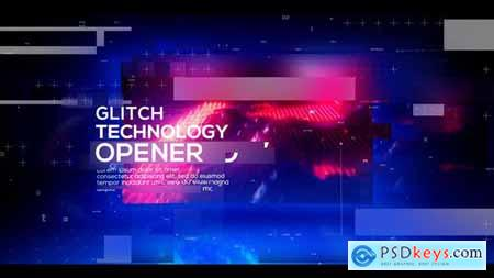 Videohive Technology Glitch Opener