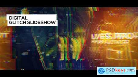 Videohive Digital Glitch Slideshow