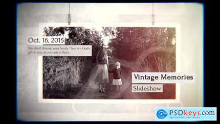 Videohive Vintage Memories Slideshow