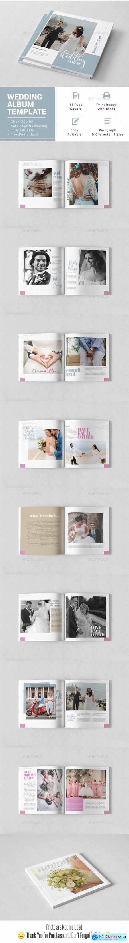 Wedding Album Indesign Template 23810557