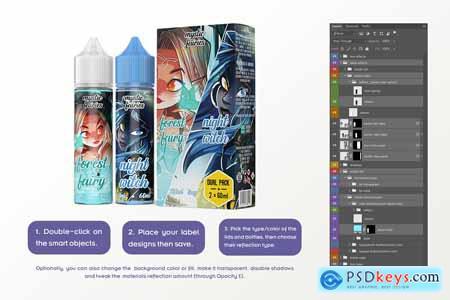 eLiquid Bottle Mockup v. 60ml-D Plus 3848896