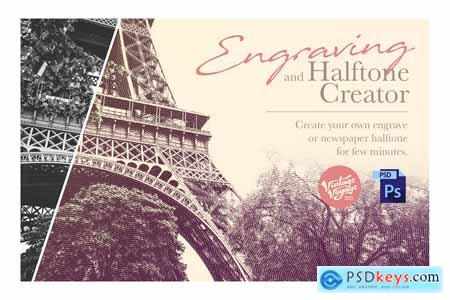 Engrave and Halftone Creator 3839390